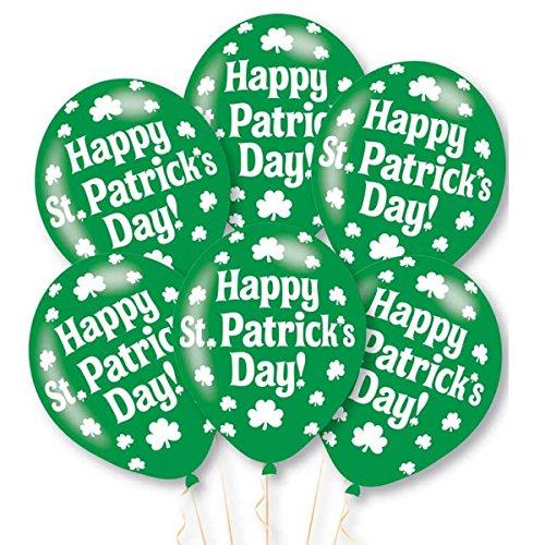 amscan 9900227Happy St Patrick 's Day Latex Ballon (10Stück) (Party St Day S Patrick)