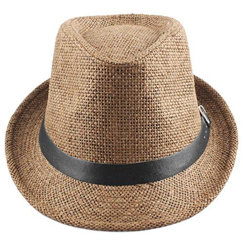 Shanxing Fedora Hut Herren Trilbyhut Panamahut Sonnenhut Hüte Jazz Kappe (Mann Hut)