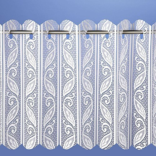 Pleated Drop (Lace Pleated Vertical Louvre Blind Window Net White 90 Drop Hallways ® by Hallways)