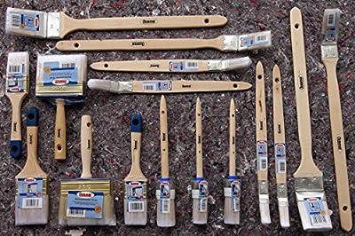 16 teiliges Lackier Pinsel Set Flächenstreicher Ringpinsel Flachpinsel Plattpinsel Heizkörperpinsel Maler von 1A Malerwerkzeuge bei TapetenShop