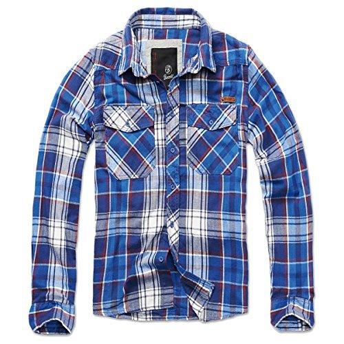 - Knopf-manschette-button-down-hemd (BRANDIT Check Shirt Blau L)