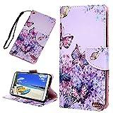 Huawei Y7 2018 Handyhülle Honor 7C Hülle Case Leder Tasche Muster Flipcase Cover Silikon Schutzhülle Handytasche Skin Ständer