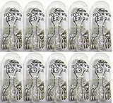 10 x Glassockellampe 12V 5W W2 1x9 5d W5W KFZ Kennzeichen Leuchte Außen Lampe Auto Glühbirne Glassockel Glas Sockel