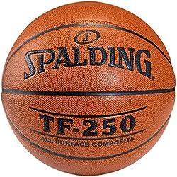 SPALDING - TF250 IN/OUT SZ.6 (74-532Z) - Ballons de basket NBA - Touché et Contrôle améliorés - Matière Durable - orange