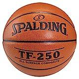 SPALDING - TF250 IN/OUT SZ.7 (74-531Z) - Ballons de basket NBA - Touché et Contrôle améliorés - Matière Durable - orange...