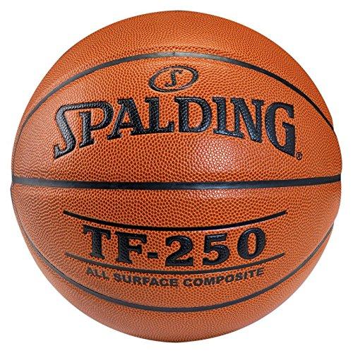 SPALDING - TF250 IN/OUT SZ.7 (74-531Z) - Ballons de basket NBA - Touché et Contrôle améliorés - Matière Durable - orange