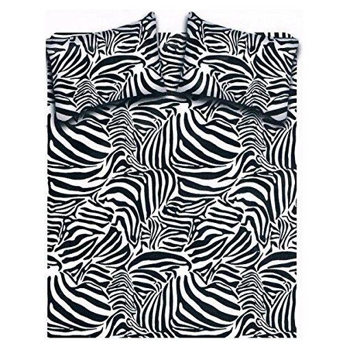 Completo Letto Lenzuolo Matrimoniale Fantasia Zebra