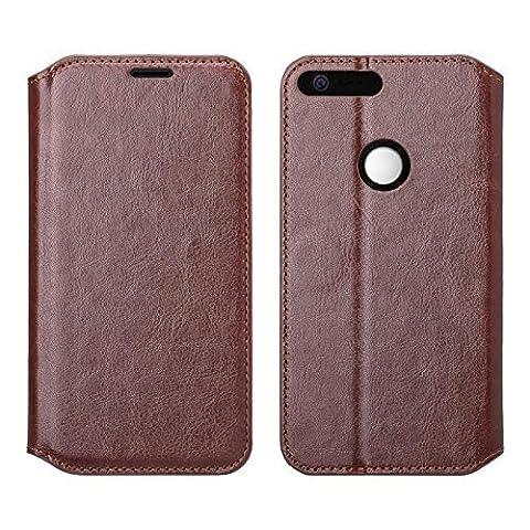 Wydan Google Pixel Xl Wallet Case, Pixel Xl Case - Pu Leather Wallet Style Case Folio Flip Foldable Kickstand Feature Card Slot Credit Card Phone Cover - Brown