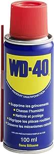 WD-40 • Produit Multifonction • Aérosol • Sans Silicone • Non Conducteur • Compatible Plastiques, Caoutchoucs, Tous Métaux • 100 ML