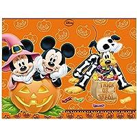 Procos 82365 - Tovaglia Plastica Mickey Halloween, 120 x 180 cm, Arancione/Nero