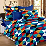 Home Elite 120 TC 100% Cotton Multicolor Printed 1 Single Bedsheet with 1 Pillow Cover