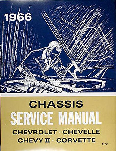 1966 Chevy Chevrolet Chevelle El Camino Corvette Nova Impala Repair Shop Service Manual 66 (with Decal)