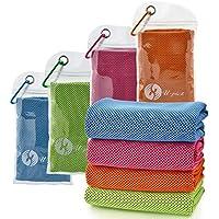 """[4packs] refrigeración toalla (40""""x 12""""), hielo toalla, toalla de microfibra, suave y transpirable Chilly toalla para Yoga, deporte, gimnasio, entrenamiento, Camping, gimnasio, running, actividades de entrenamiento y más, U-pick, Blue Green Orange Pink"""