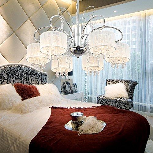 lampadario semplice ed elegante 6-testa di cristallo, lampadario di cristallo
