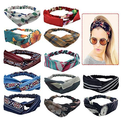 Fasce per capelli da donna Fasce Headwand Elastic Printed Head Wrap Accessori per capelli turbante elastico per donne e ragazze