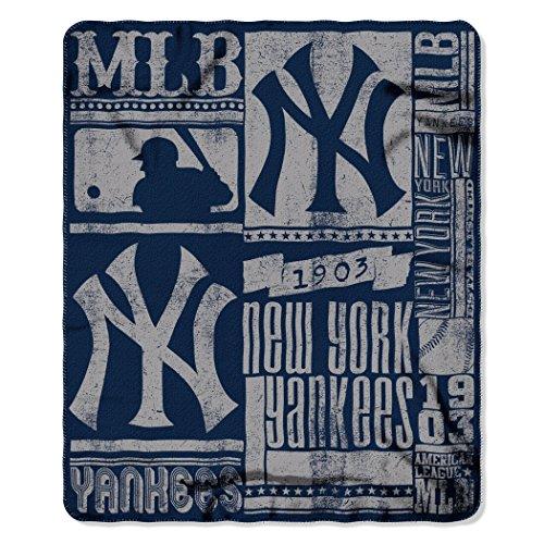 Northwest MLB New York Yankees Stärke Bedruckt Fleece Werfen, 127cm von 152,4cm - New York Werfen