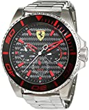 Scuderia Ferrari Mens Quartz Watch, Analogue Classic Display and Stainless Steel Strap 0830311