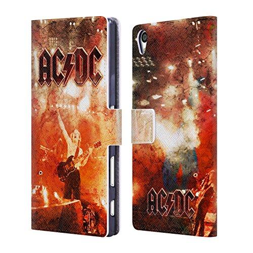 Ufficiale AC/DC ACDC Live At River Plate Arte Album Cover a portafoglio in pelle per Sony Xperia Z5 Premium / Dual