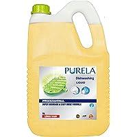 Purela Dishwash Liquid Gel Lemon Can Jar, With Lemon Fragrance, Leaves No Residue, Grease Cleaner For All Utensils, 5…