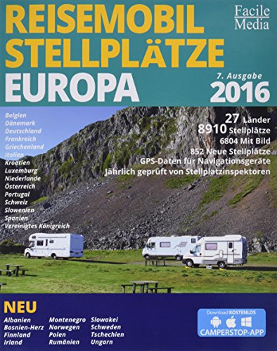 tze in Europa 2016: 8033 Stellplätze ()