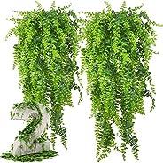 مجموعة من قطعتي نباتات زينة صناعية لتزيين الحديقة وحفلات الزفاف والحفلات والمنزل من اندينيو
