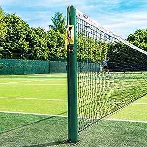 im Set: Tennis Netz mit runden Pfosten [Net World Sports]