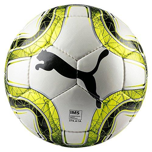 PUMA FINAL 4 Club (IMS APPR) Size 4 Fußball, White-Lemon Tonic Black, 4 -