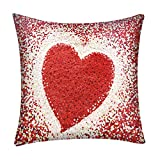 Fenverk Kissen-Bezug Dekorative Kissenbezug Gedruckt Sofa Dekor Kissen Fall Braun KissenbezüGe KissenhüLle ZierkissenbezüGe Silber Decor Throw Pillow Covers Cases(H 1)