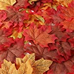 Unomor 190 Assortiti Artificiale Maple Leaves in 2 Misure Thanksgiving Day & Wedding Decorations