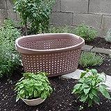 Bama paglia Garden cestino, 40L, multicolore, 60x 40x 27cm