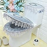 spitzen - toilette kissen, drei stück stoff spitzen, wc - sitz - kette, kissen, kissen toilettenschüssel,Abschnitt B - Grau