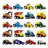 DMbaby Juguete para niños de 2 a 6 años, DIMY Pull Cars Paquete de...