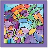 Melissa & Doug - Vitrales fáciles, jardín arco iris (14264)