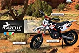 NEU Kinder Mini Crossbike Gazelle ELEKTRO 500 WATT inklusive verstärkter Gabel Dirt Bike Dirtbike Pocket Cross orange