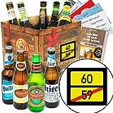 Ortsschild 60 ++ Geschenke zum 60 Geburtstag Mann ++ Biere der Welt