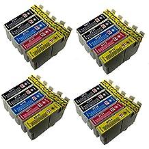 PerfectPrint Compatible Tinta Cartucho Reemplazo Para Epson Stylus S20 SX-100 105 110 115 200 205 210 215 218 400 405 410 415 515W 600FW 610FW T0715 (Negro/Cian/Magenta/Amarillo, 20-Paquete)