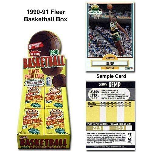 1990/91 Fleer Basketball HOBBY Box - 36P15C