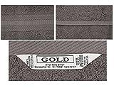 Betz 10er Pack Gästetücher Größe 30x50 cm 100% Baumwolle Qualität: 600g/m² Gästehandtuch Set Luxus Gold Farbe Anthrazit Grau & Silber Grau Vergleich