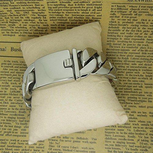 Unisexe crochet simple Glaze antiallergique Titane Bracelet en acier inoxydable facile de couleurs ne s'estompent pas QGuang