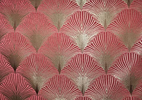 Art Déco chenille 20de New York Effet velours Rideau Tissu