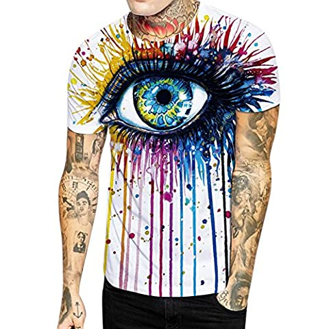 Bold Manner T-shirt Homme Manches Courtes Tee Haut Tops Col