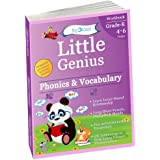 Phonics & Vocabulary II: Kindergarten Workbook (Little Genius Series): Learn Blend Sounds, Sight Words, Phonics Activities, V