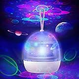 جهاز عرض ضوئي ليلي من ستار زونبور- قابل للدوران 360 درجة، 4 موضوعات اختيارية - كوكب الكون/عالم تحت الماء/كاروسيل/ مصباح ضوئي