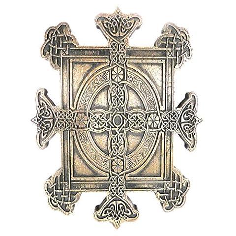 Plaque Croix de Famille de Bronze