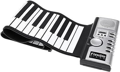 ammoon Tastiera Piano Elettrico Pianoforte 61 Tasti Flessibile Roll Up Morbido Portatile