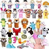 Joinfun 28 stücke Fingerpuppen Set für Kinder 22 stücke Cartoon Tier Hand Spielzeug 6pcs Menschen...