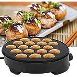 Machine de fabricant de Takoyaki de ménage Mini boule de poulpe électrique Machine de petit-déjeuner 220-240V(EU Plug)
