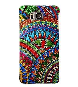 For Samsung Galaxy Alpha :: Samsung Galaxy Alpha S801 :: Samsung Galaxy Alpha G850F G850T G850M G850FQ G850Y G850A G850W G8508S :: Samsung Galaxy Alfa african pattern ( african pattern, hand drawn colorful african, pattern, nice pattern ) Printed Designer Back Case Cover By FashionCops