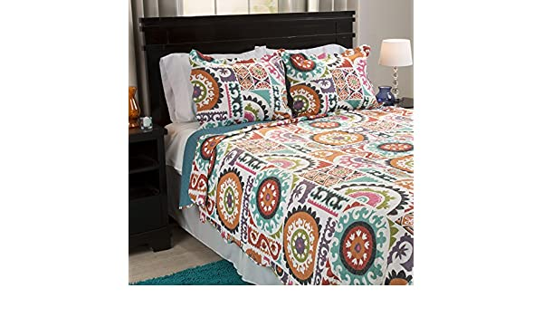 Bedford Home Gayle 3 Piece Quilt Set King