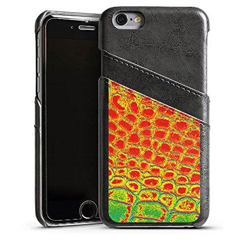 Apple iPhone 4 Housse Étui Silicone Coque Protection Peau de serpent Serpent Serpent Étui en cuir gris
